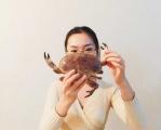 蒸一只面包蟹蘸醋吃吖😜