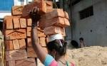 印女子头顶6块砖头背后挂婴儿辛苦照引热议