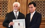 温州侨胞卢锡德、刘光华荣获意大利迦太基国际文化奖