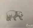 ?铅笔描绘熊猫请大家欣赏指点谢谢,