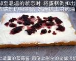 蓝莓淡奶油海绵蛋糕,惊醒你的味觉~
