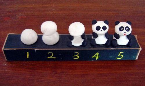 粘土熊猫的制作