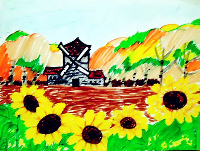 你还会喜欢用水彩笔画的画吗.