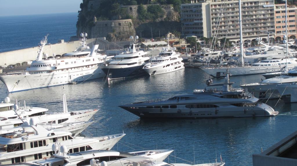 摩纳哥的私人游艇
