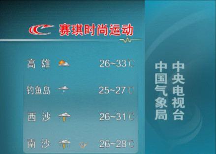 从今天 11日 起,新闻联播天气预报将正式增加钓鱼岛