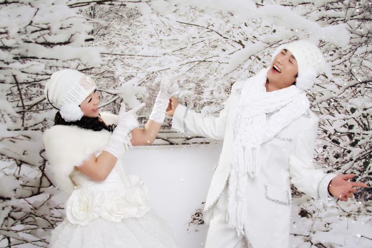 冬天拍婚纱照突然下雪怎么办