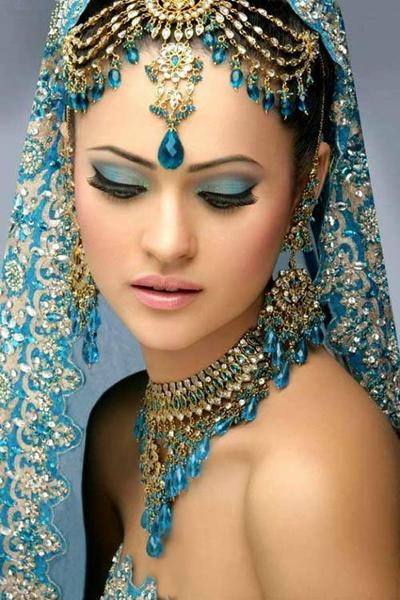 印度新娘妆容,妖娆 典雅图片