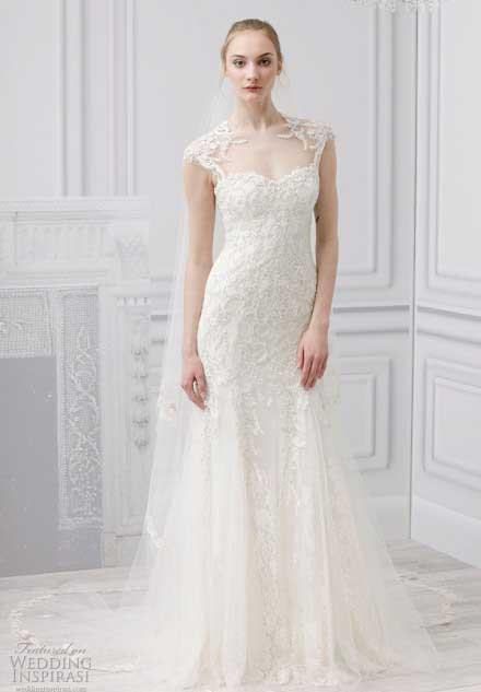 Monique Lhuillier 2013婚纱系列 典雅中更添一份甜美 法国谈婚论嫁
