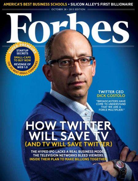 图为最新期《福布斯》杂志封面
