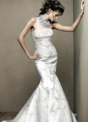 狮子婚纱素描设计