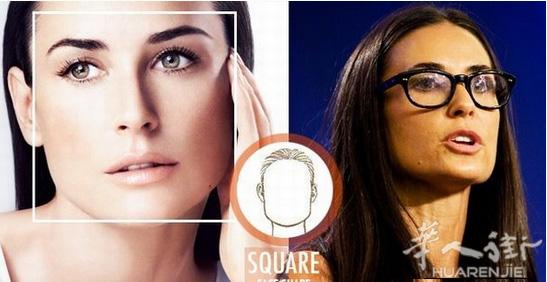 (4)长方脸型——适合长方形眼镜架