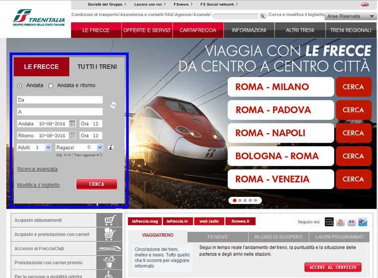 手把手教你在意大利Trenitalia官网购买火车票 生活百科 第2张