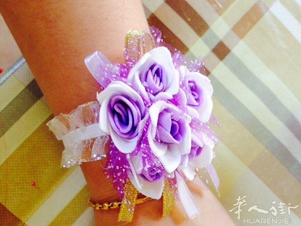 diy纯手工制作新娘手捧花 胸花手腕花 及情人节的玫瑰花