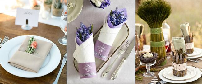 婚礼素材收集者 海量餐巾设计灵感
