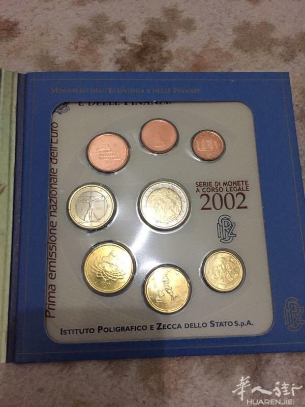出售2002年意大利欧元硬币 联系 3383008188图片
