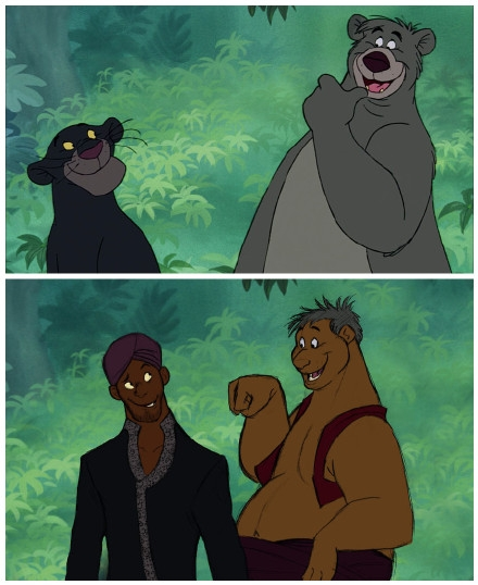 把迪斯尼动画里的动物拟人化后