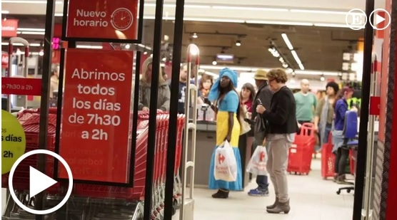部分家乐福超市营业时间延长,早7 30至凌晨2 00