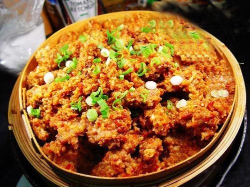 华人蒸肉-美食天下-糯米街网如何煮广东牛肚粥先脆图片