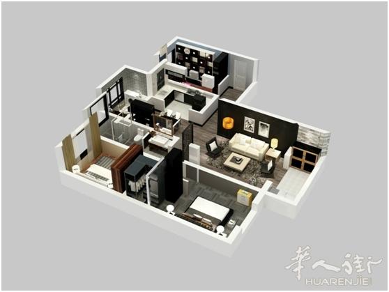 室内设计结构图立体