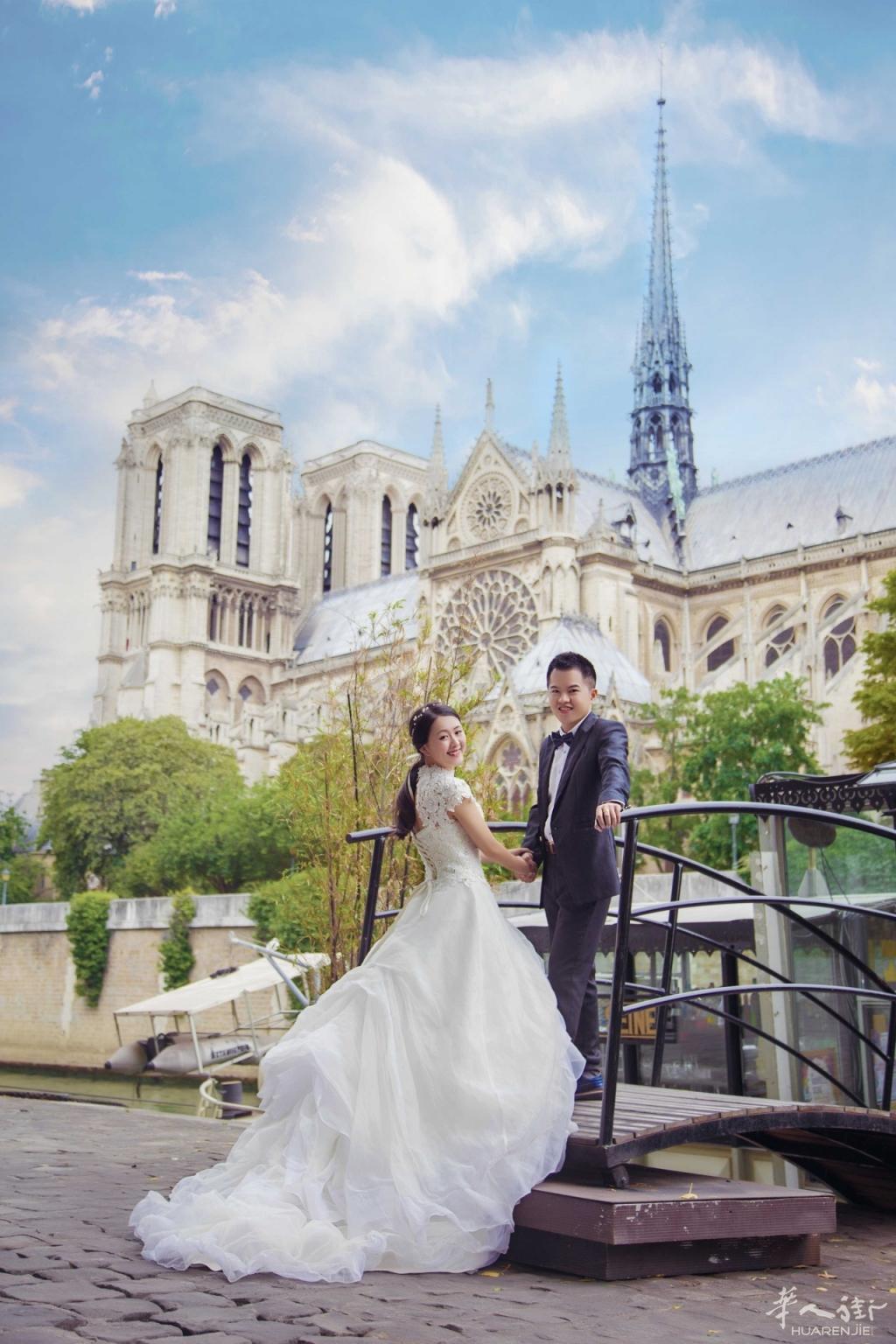 巴黎圣母院/埃菲尔铁塔/塞纳河艺术桥/亚历山大