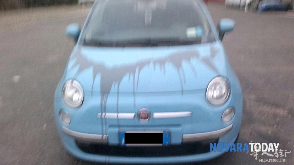 诺瓦腊一辆汽车被人报复深夜泼油漆 损失过千欧元高清图片