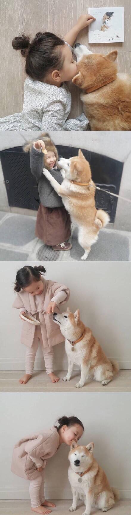 生个女儿再养只狗狗!真美好。。。