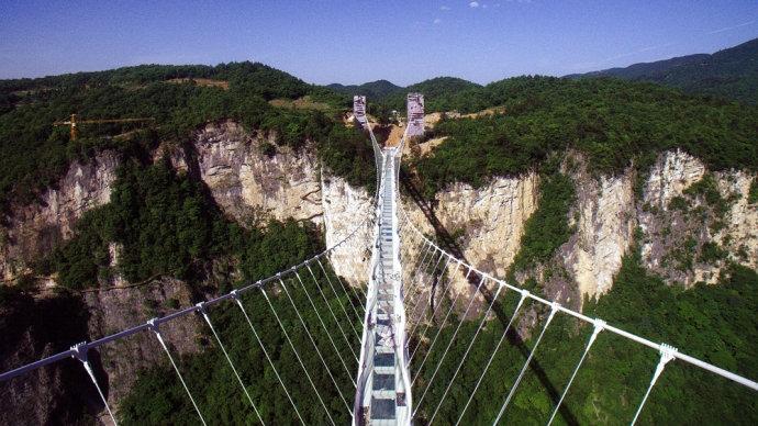【湖南】挑战张家界大峡谷玻璃桥 记得带好尿不湿