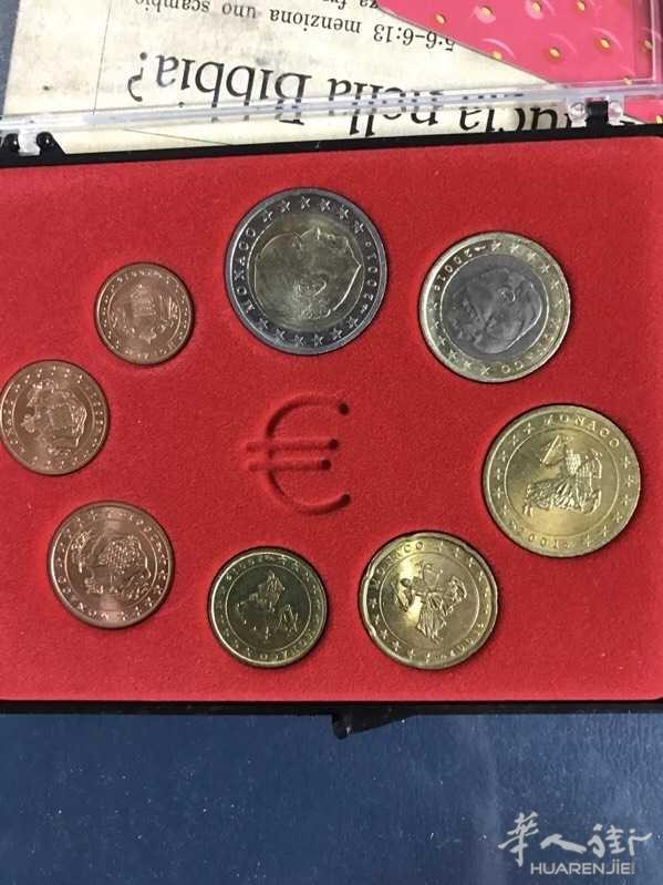 出售欧元区各个国家的硬币 8枚装 以及纪念币图片