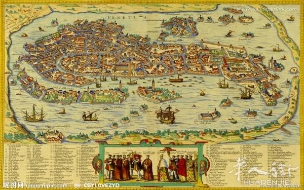 今天威尼斯毫无疑问是全世界最迷人的旅游圣地之一,但在历史上它却因为资源极度贫乏,是谁也不愿落脚的蛮荒之地呢。当时的欧洲西罗马帝国一塌糊涂,被北方的蛮族入侵,反复洗劫,家国残破。那自然就有一些人在神父的带领下,就开始逃散,这段历史在欧洲历史上称之为大逃散时代。一帮人逃来逃去,就逃到了今天威尼斯的地方。就是亚得里亚海的那个胳肢窝那个地方,西边是亚平宁半岛,就是意大利的本土,东边是巴尔干半岛。这些难民发现海水侵蚀自然形成了一些围堤,难民就在这片浅海地区填海形成威尼斯城。可以说在大逃散时代,很多人是由于被逼无奈才
