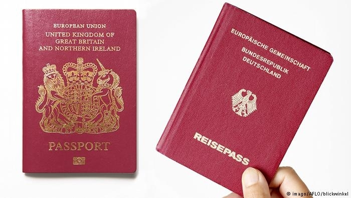 英国人申请德国护照数量激增近4倍,明显与脱欧相关