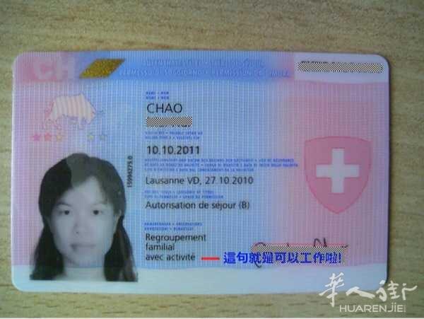 八种 申请 瑞士居留证 - 闲聊意大利 - 华人街网