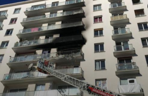 男子遇火灾,竟果断从6层跳下被摔伤