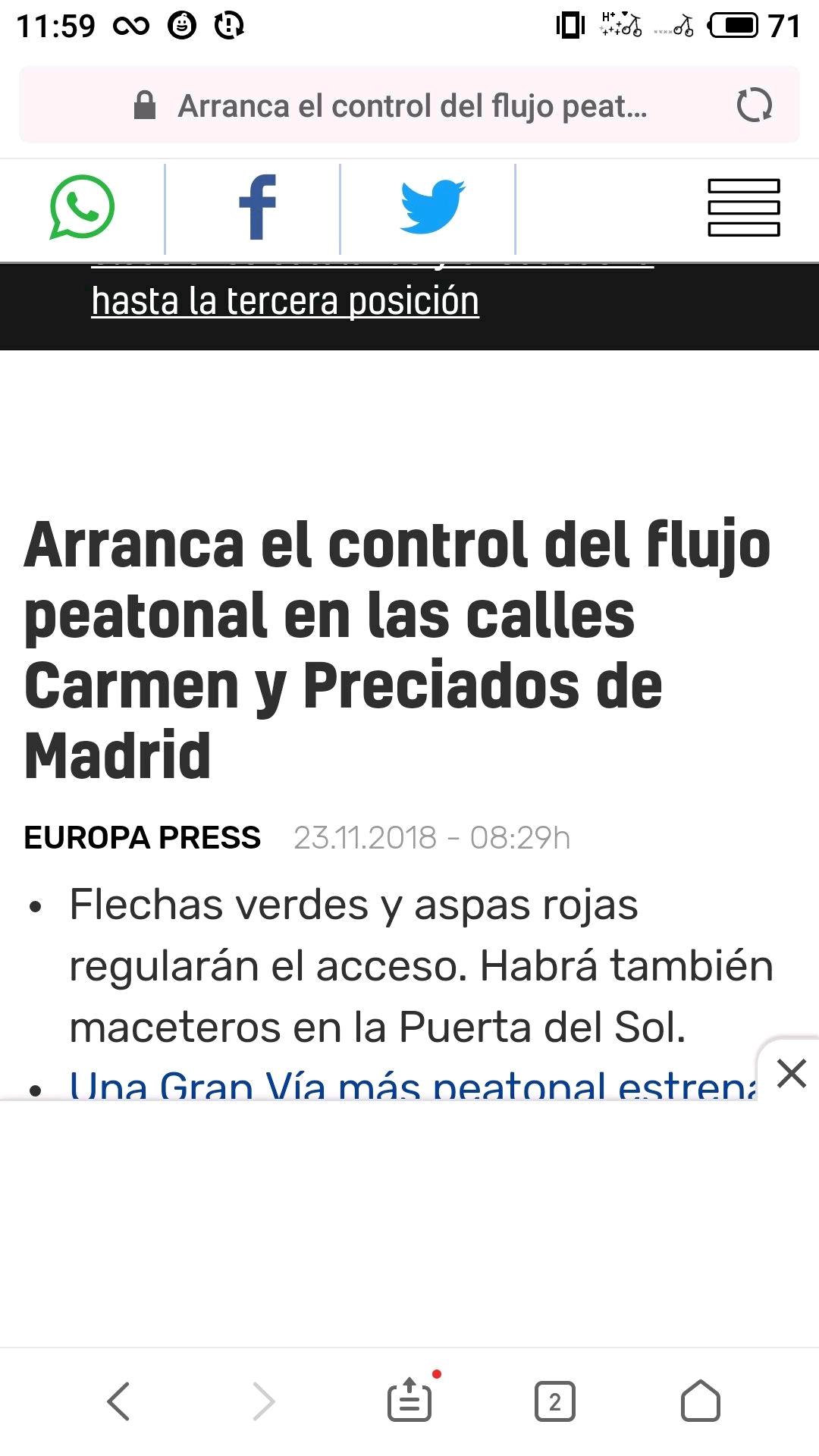 圣诞节,马德里这些街道要控制人流量了