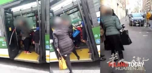 Lite sul bus per il passegino a Milano-2.jpg