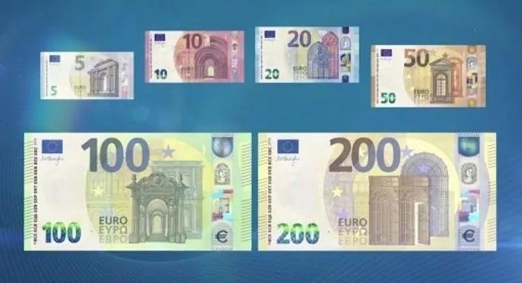 新版100欧元和200欧元纸币正式发行!看准了不要认错了! 意国新闻 第1张