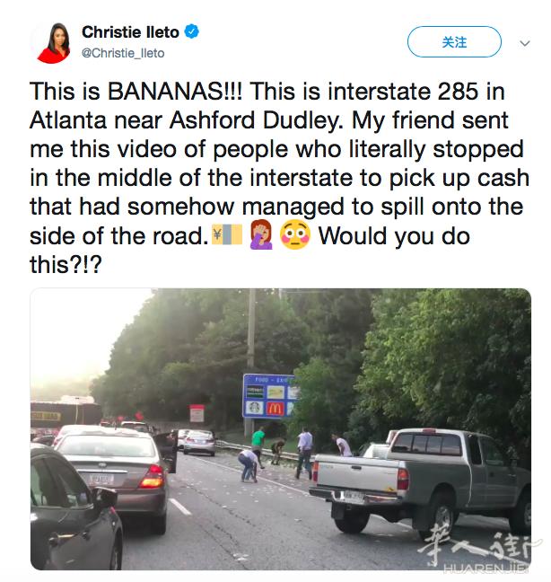 【视频】公路上突然飞洒美元,大量车主下来捡钱发横财