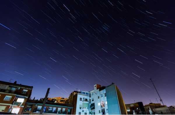 家阳台上的星轨