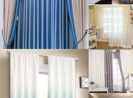 米兰华人窗帘店,订做各种款式的窗帘,承接宾馆,餐馆