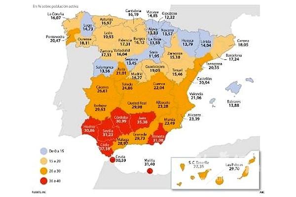 西班牙大区_西班牙大区地图
