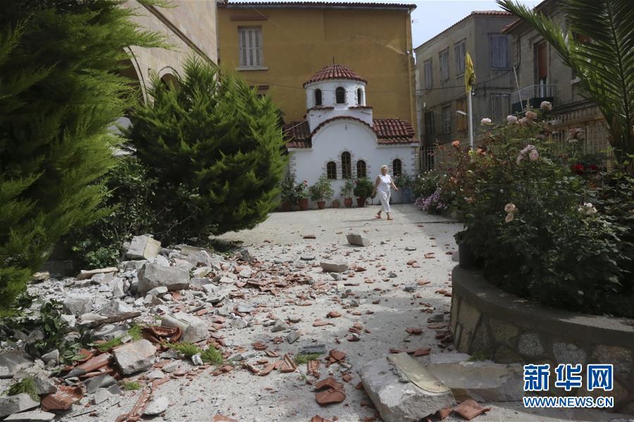 希腊莱斯沃斯岛附近海域发生6级地震
