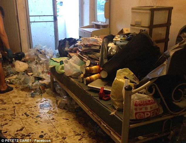泰女租客懒出新高度:出租房变垃圾场