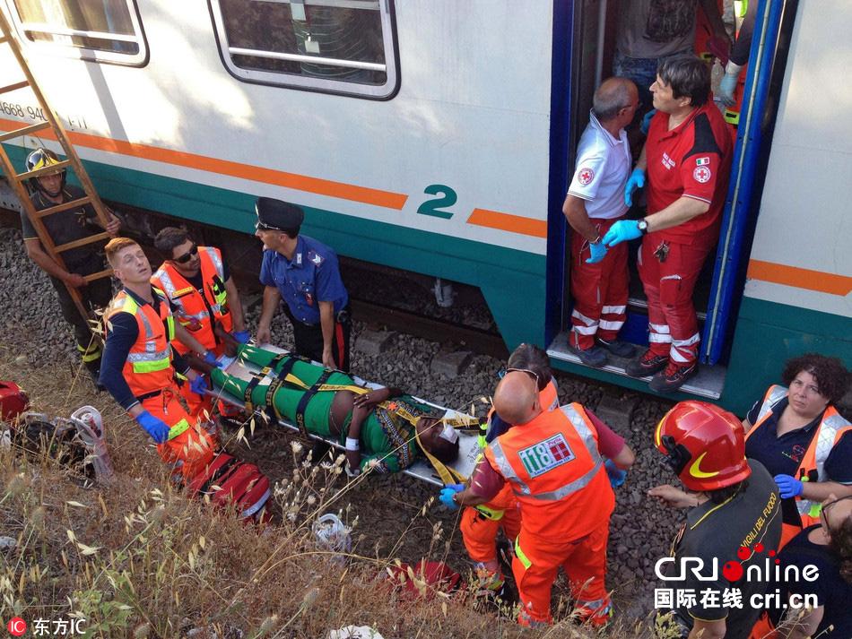意大利两列火车相撞 致十余人受伤