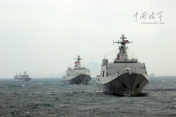 美媒:中国第5艘071型坞登舰下水 第6艘已开工