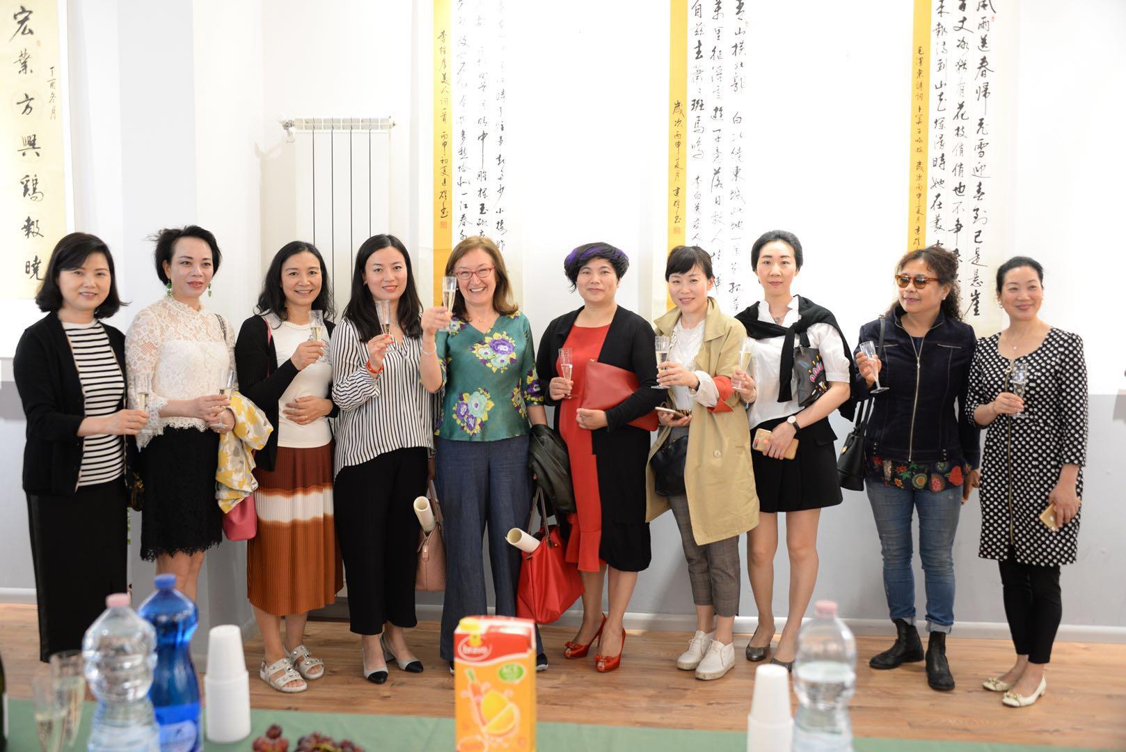"""""""中国梦与你我同在""""周建煌书法展暨作品慈善公益拍卖会在米兰成功举办 ..."""