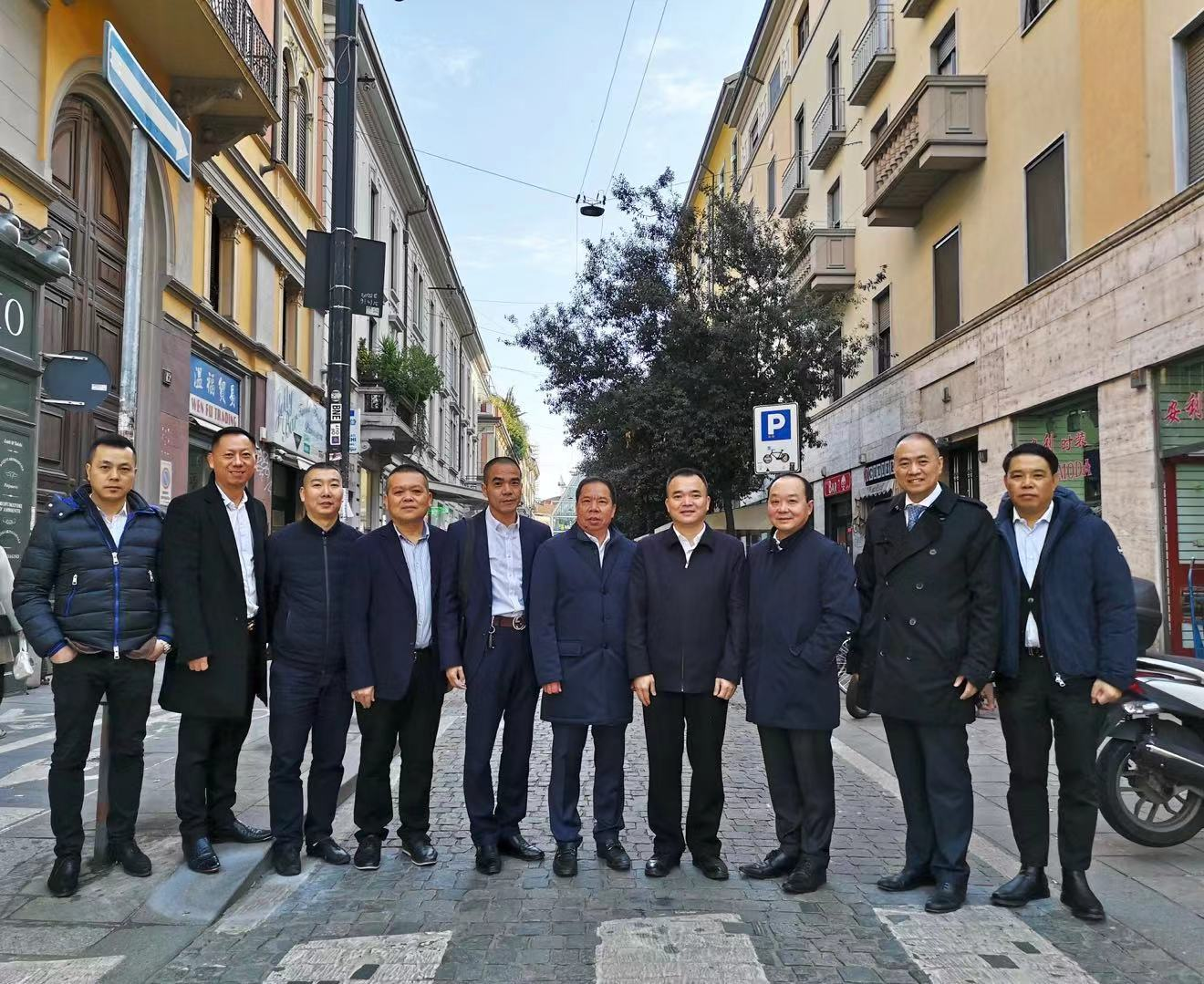 徐清雨副书记率文成县人民政府侨务考察团访问米兰