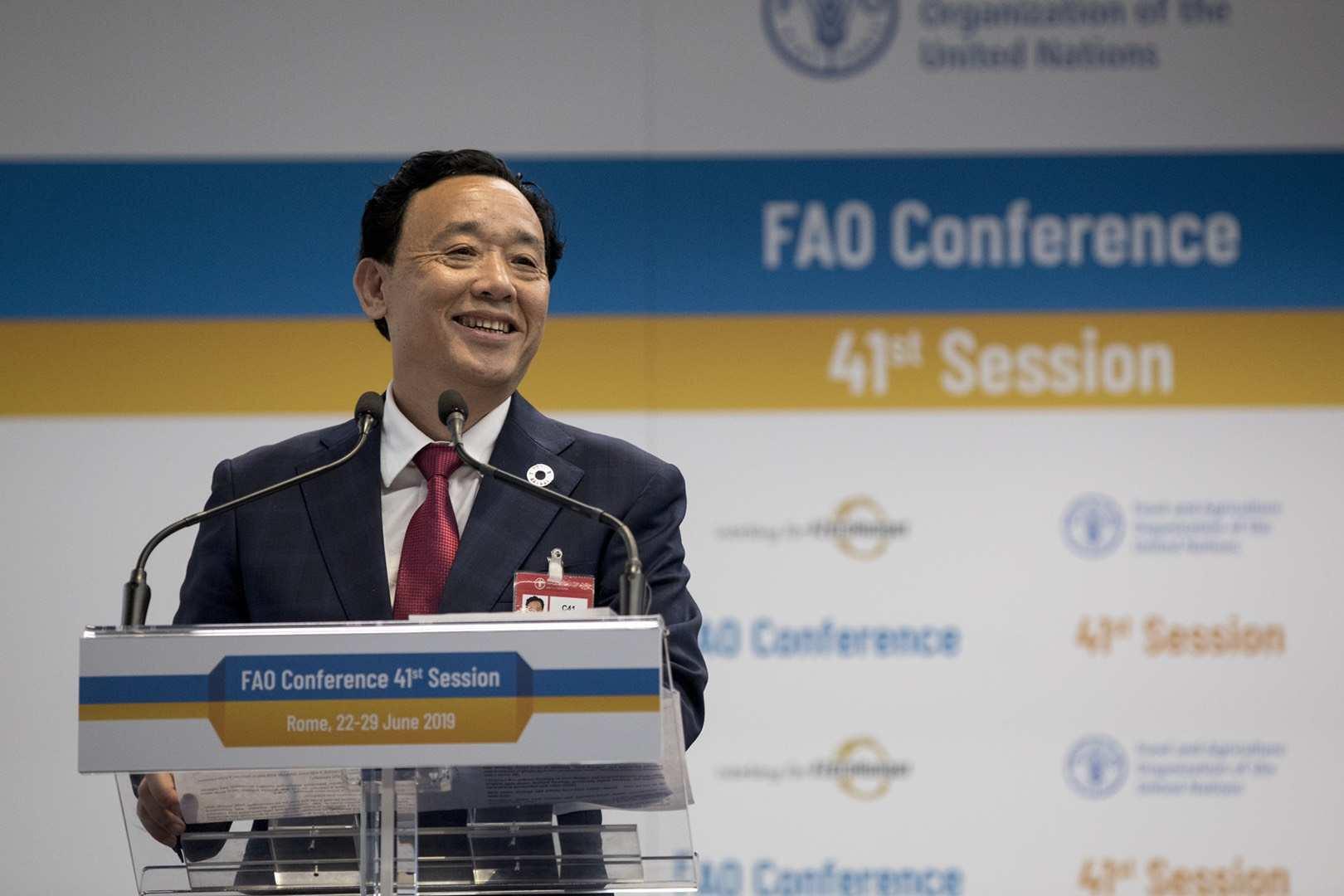 中国人首次担任联合国粮食及农业组织总干事